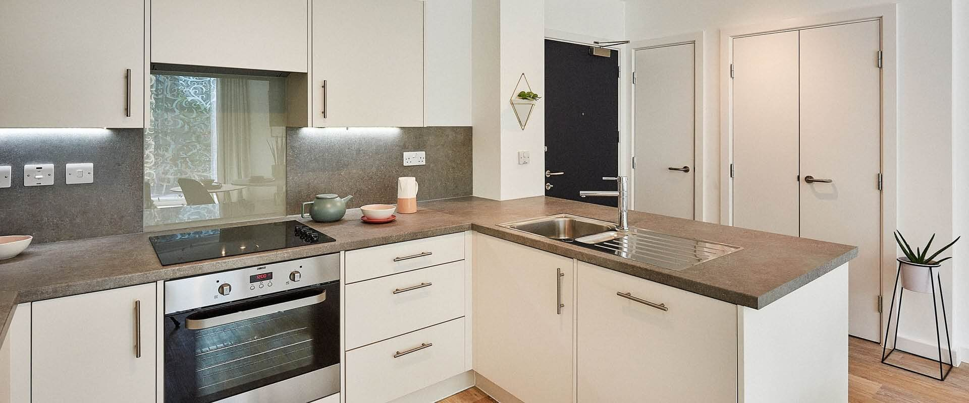 Way of Life - The Wullcomb, Leicester - Two bedroom Apartment Kitchen