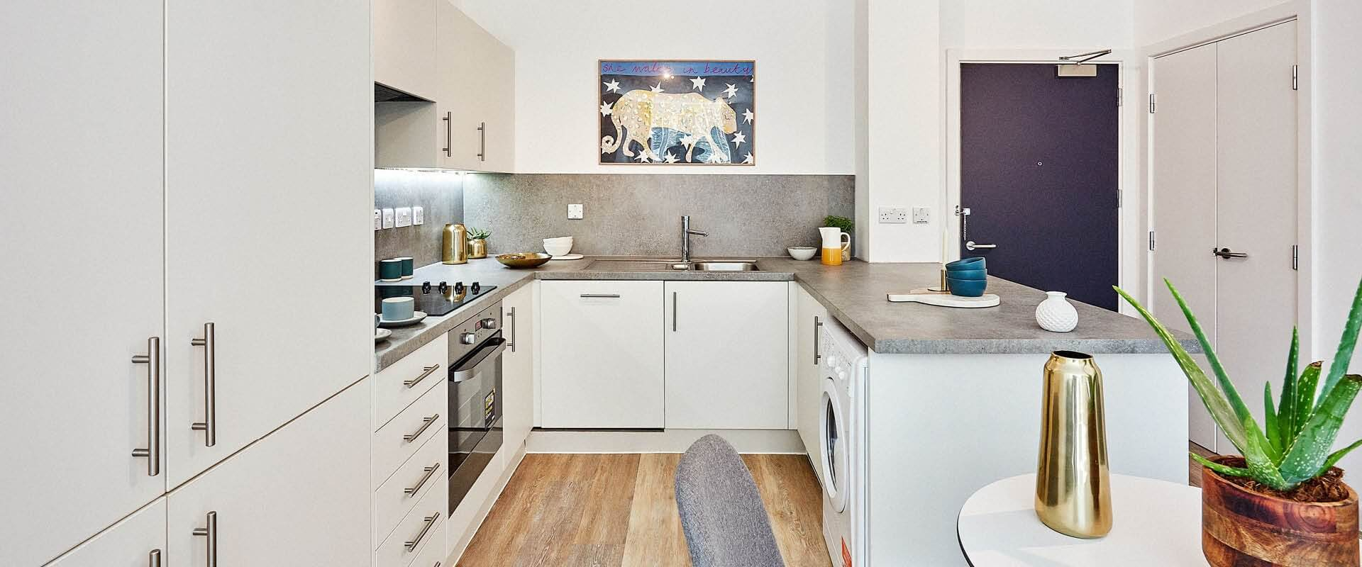 Way of Life - The Wullcomb, Leicester - One Bedroom Apartment Kitchen